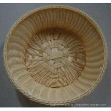 Cesta de plástico hecho a mano; Cesta de pan; Cesta de comida; Cesta de almacenamiento