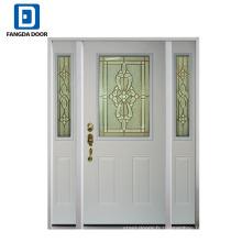 Fangda style américain de qualité fiable utilisé portes d'entrée en acier extérieures à vendre