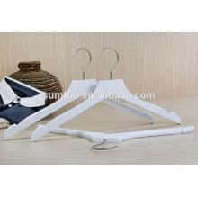 wholesale white lotus wood clothes shirt hangers
