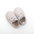 2018 White Dots Cute Baby Oxfords Zapatos
