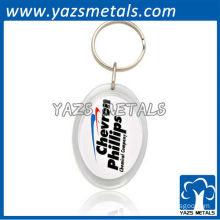 Custom oval photo keychains