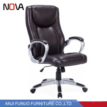 Fashion Executive Cowhide Fixed revolving office chair for meeting room
