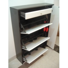 Wood Shoe Rack with Drawers