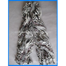 Fashion leopard cotton scarf and shawl wholesale