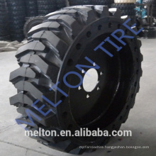 china tire factory 31x6x10 Quick Fit Skid Steer Solid Tires and wheel