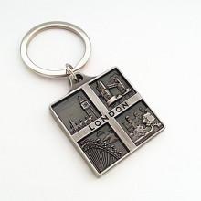 London Souvenir Premium Tourist Metal 3D Emboss Logo Keychain (F1109)