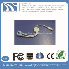 HIGH QUALITY USB2.0 AM TO PS/2 CABLE FOR MOUSE KEYBOARD