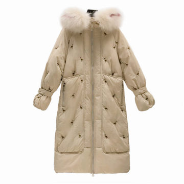 Mode Stickerei Winter Frauen Baumwolljacke