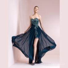Sweetheart Beading Applique Chiffon Evening Dress