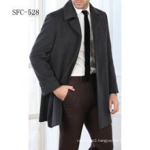 european style men 100% wool coat