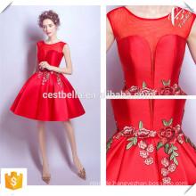 Shinny Stoff V Ausschnitt Chic Kurz Champagner und Red Christmas Party Kleider 2016 Made in China