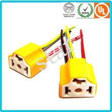 Fio de luz automotiva adaptador H4 cerâmica conector