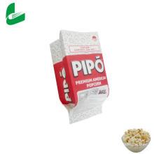 Kraft greaseproof microwavable popcorn paper packaging bag