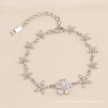 Xuping moda jóias elegante flor pulseira