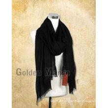 Woman fashion Black color Large Wool Scarf