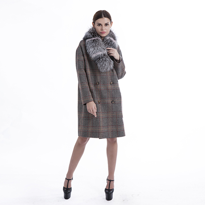 Big pocket cashmere overcoat new styles