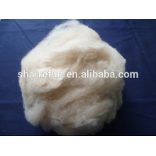 100% pure dehaired Camel hair white color 17.5-18.0mic/32-34mm