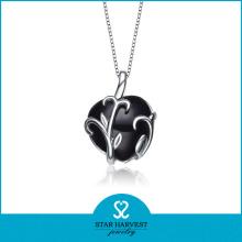 2016 Collar de piedras preciosas en 925 Sterling Silver Material (N-0203)