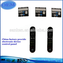 Hot sale custom made chronometric device graphic overlay/label/membrane keypad switch