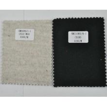 Black 610g/m heavyweight cashmere fleece fabric from China