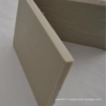 Feuille / panneau en plastique épais gris de pp