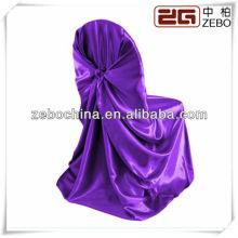 Heiße verkaufende verschiedene Arten vorhandene kundenspezifische Großhandelssatin purpurrote Stuhlabdeckungen