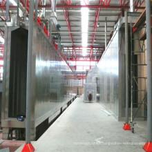 Linha completa de pulverização de tinta para a secção de alumínio