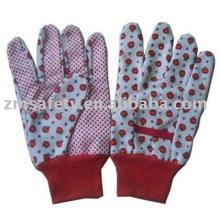 Baumwoll-Gartenhandschuh mit PVC-Punkten auf der Handfläche ZMR340