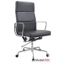 Escritório moderno Office Eames ergonômico couro Alumínio gerente gerente de lazer (A01)