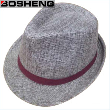Invierno cálido moda gris hombres Fedora sombrero de fieltro
