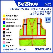 Vestuário Reflexivo Competitivo Vest Segurança com alta visibilidade