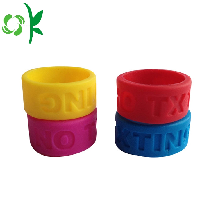 Red Silicone Engraved Ring