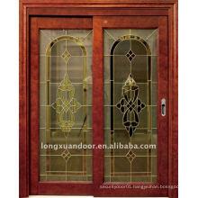 wooden glass sliding door