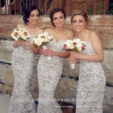 Wholesale Good Quality New Cheap Lace formal Long Sheath Mermaid Bridesmaid Dress LB34