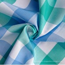 100% fio de algodão tingido xadrez tecido Shirting (QF13-0217)