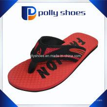 Novos Homens Polly Sapatos Sandálias Flip-Flop Vermelho