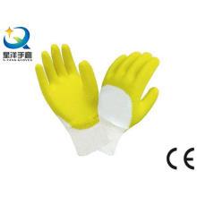 Algodón Interlock Liner Latex 3/4 guantes de trabajo revestidos