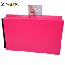 Pink Make-To-Order Folding Gym Mat Exercise Folding Foam Mat