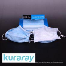 Máscara elástica de tipo FV descartável feita de fibra Kuraflex para pó de PM 2.5 por Kuraray. Feito no Japão (máscara facial não tecida)