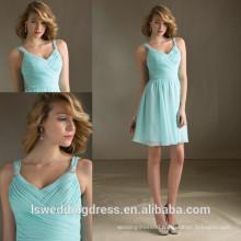 HC4281 The Whole Sale A Line Sleeveless Tank Light Blue Chiffon Ruffle Skirt Latest Girls Dresses