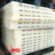 Tableros de láminas de polipropileno de calidad alimentaria blanca