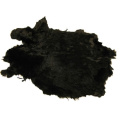 Dyed Rabbit Skin Black Rabbit Skin Hide fur Pelt Craft