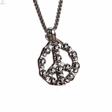2016 Newest Black Stainless Steel Pendant Jewelry With Cristal