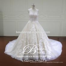 настоящая роскошь бальное платье,империя талии дизайн иллюзия кружева свадебные платья с рукавов