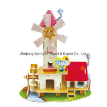 Wood Collectibles Toy for DIY Houses-Mill House
