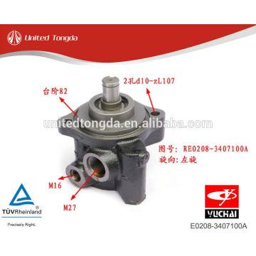 YUCHAI motor YC4E bomba de direção hidráulica E0208-3407100A