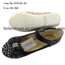Sapatos de criança sapatos de dança menina sapatos princesa sapatos de festa (ff0724-20)
