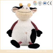 YK ICTI OEM toys manufactrer juguetes de animales suaves lindos juguetes de lácteos rellenos con diseño de vaca