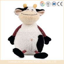 YK ICTI OEM toys manufactrer soft animal toys cute Stuffed dairy toys with cow design