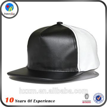 China Supplier flat brim leather cap no logo